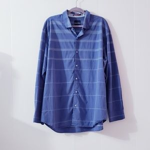 Tommy Bahama buttons Down Striped Blue Shirt XL